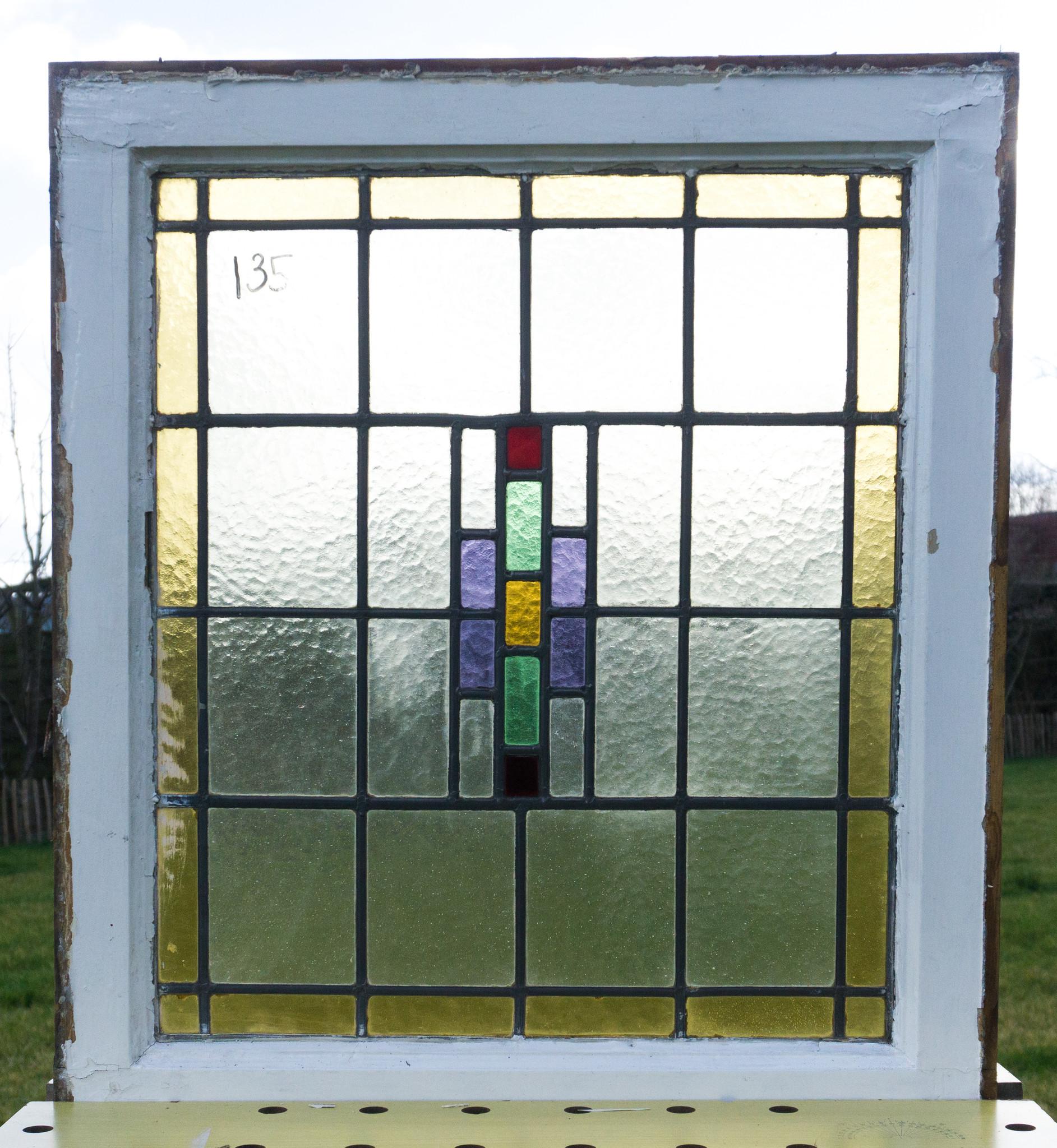 Glas En Lood Ramen.Glas In Lood Raam No 135