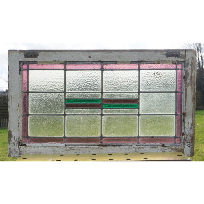 Glas in lood raam No. 136