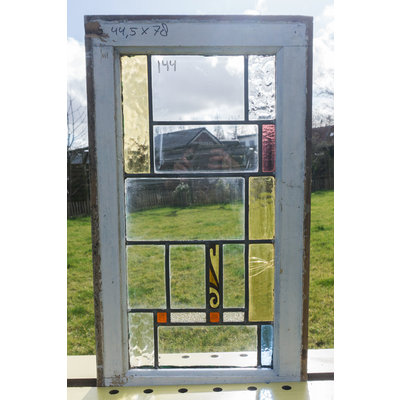 77 x 45,5 cm - Glas in lood raam No. 138
