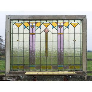 89 x 120,5 cm - Glas in lood raam No. 117