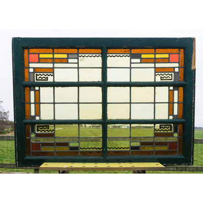 78 x 109,5 cm - Glas in lood raam No. 118