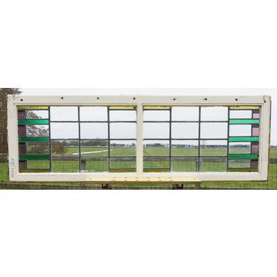 168,5 x 55,5 cm - Glas in lood raam No. 122