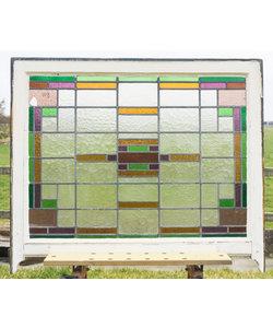 103,5 x 81 cm - Glas in lood raam No. 119