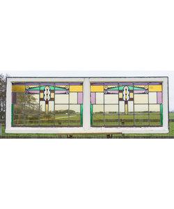 193 x 66,5 cm - Glas in lood raam No. 123
