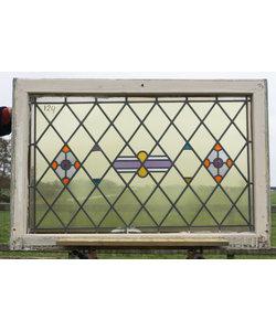 115 x 76,5 cm - Glas in lood raam No. 124