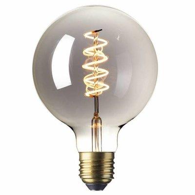 Calex G125 flex LED lamp Titanium