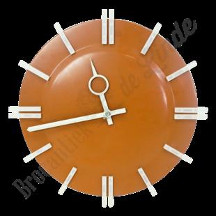 Stoere vintage wandklok 'Orange'