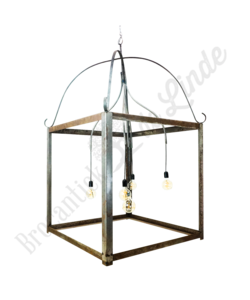 Brocante hanglamp metaal 'Large'
