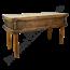 Stoere houten werktafel met opbergruimte