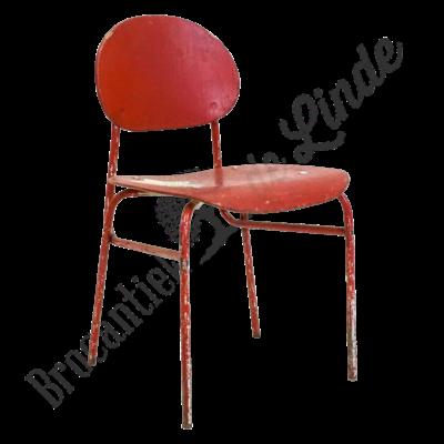 Vintage kinderschoolstoeltje  rood