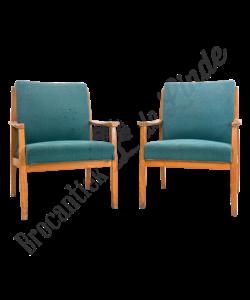 Vintage fauteuils - Blauw/Groen