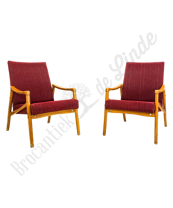 Vintage fauteuil rood
