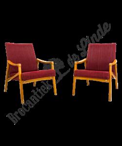 Vintage fauteuils - Rood