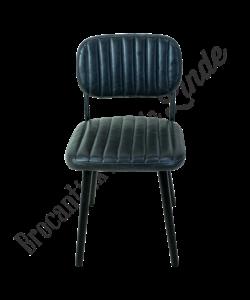 Eetkamer stoel 'leather stripes'
