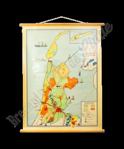 """Vintage landkaart """"Noord-Holland"""""""