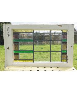 47 x 72,5 cm - Glas in lood raam No. 144