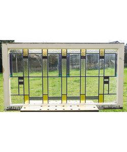 65 x 116 cm - Glas in lood raam No. 142