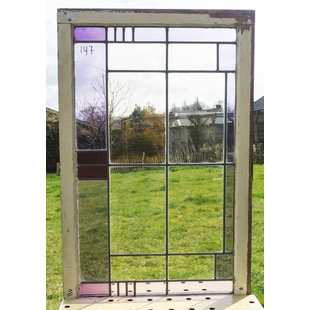 68,5 x 108,5 cm - Glas in lood raam No. 147