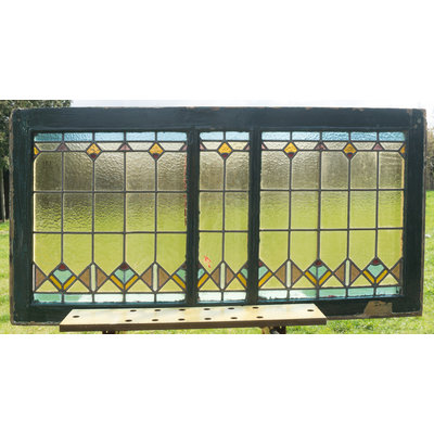 63 x 124,5 cm - Glas in lood raam No. 151