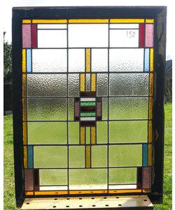 85,5 x 114 cm - Glas in lood raam No. 152