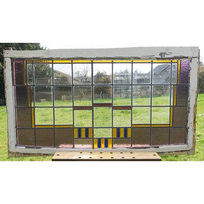 132 x 74 cm - Glas in lood raam No. 154