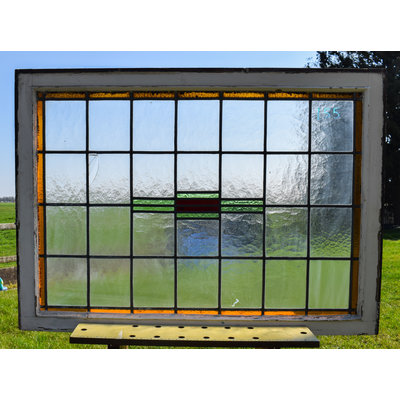 82 x 113 cm - Glas in lood raam No. 155