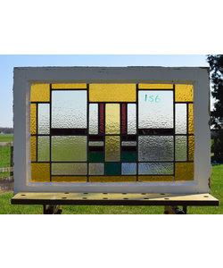 48,5 x 74 cm - Glas in lood raam No. 156
