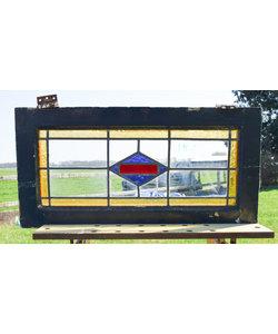 39 x 78 cm - Glas in lood raam No. 157