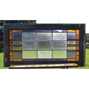 48 x 91 cm - Glas in lood raam No. 158