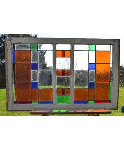 69 x 109 cm - Glas in lood raam No. 159