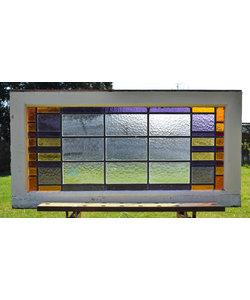 48,5 x 95 cm - Glas in lood raam No. 163