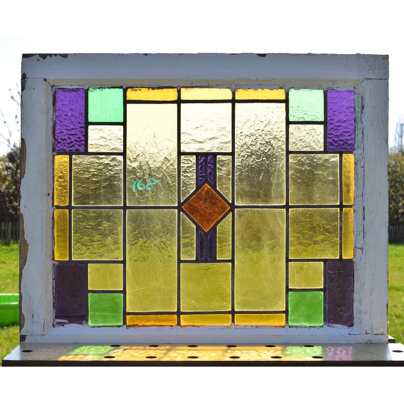 Glas in lood raam No. 168