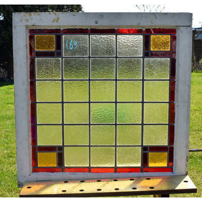 73,5 x 75 cm - Glas in lood raam No. 169
