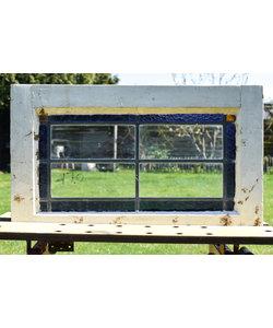 38,5 x 63,5 cm - Glas in lood raam No. 170