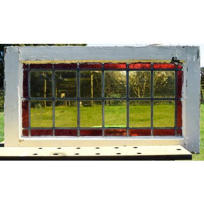 40,5 x 74 cm - Glas in lood raam No. 171