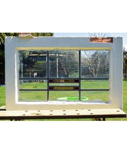 43,5 x 66 cm - Glas in lood raam No. 172