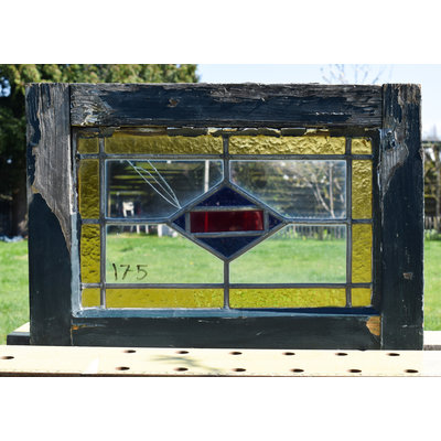 37 x 53 cm - Glas in lood raam No. 175