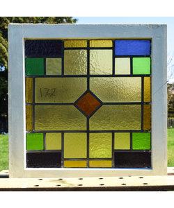 56 x 57,5 cm - Glas in lood raam No. 177