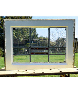 46 x 61,5 cm - Glas in lood raam No. 178