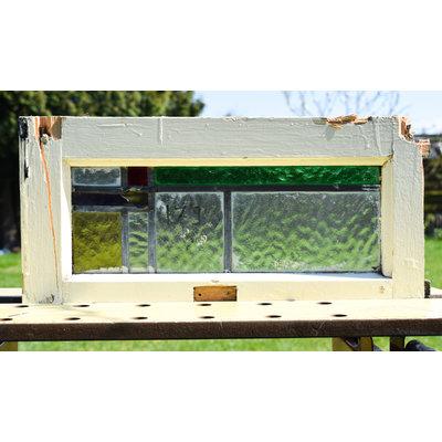 24,5 x 49 cm - Glas in lood raam No. 179