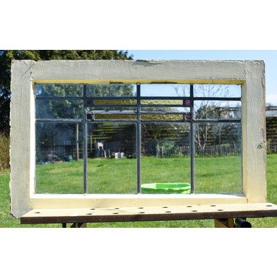 47 x 76,5 cm - Glas in lood raam No. 180