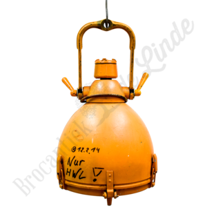 Vintage fabriekslamp DDR orange