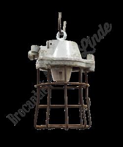 Fabriekslamp met kooi - Omgebouwd