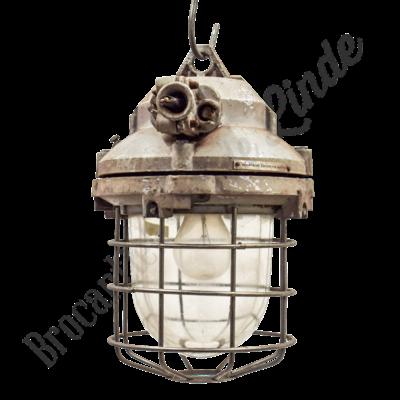 "Fabriekslamp ""Caged Liboc"" - Origineel"