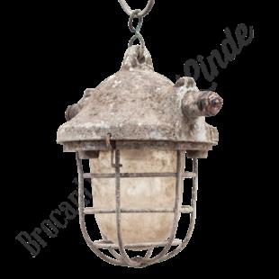 Fabriekslamp met kooi - Origineel