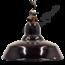 """Bauhaus fabrieklamp """"Zwart klein"""" - Origineel"""