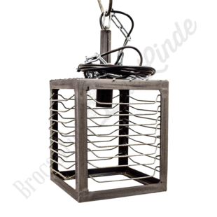 Stoere industriele hanglamp 'Square'