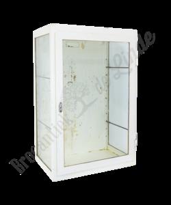 Wandkastje wit/glas