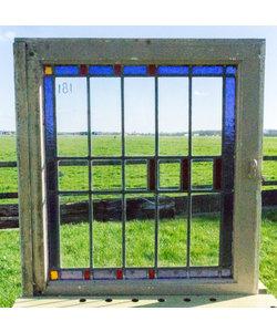 65 x 71,5 cm - Glas in lood raam No. 181