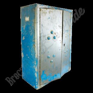 Wandkastje blauw/metaal